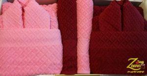 قیمت حوله های پالتویی زنانه تک رنگ